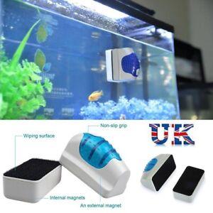 Magnetic Aquarium Fish Tank Glass Floating Cleaner Brush Aquatic Algae Cleaning