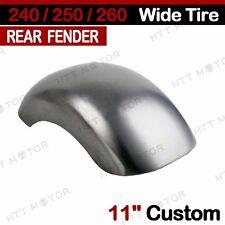 """11"""" Custom Rear Fender For Harley Softail Chopper Bobber 240/250/260 Wide Tire"""