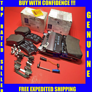 Front & Rear Brake Pad Sets w/Sensors For 14-17 Mercedes S450 S550 S550e S560 OE