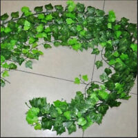 Laub Dekor Grünpflanze Efeu Blatt Künstliche Blume Kunststoff Girlande Rebee ÄÄ
