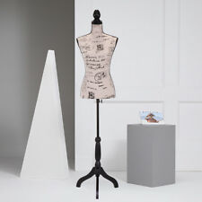 Female Mannequin Torso Clothing Dress Form Display W/ Beige Tripod Stand New
