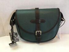 VALENTINA Italian Leather Handbag Purse Dark Green 10x8 NWT adjustable strap