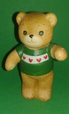 Lucy & Me Bears Lucy Rigg Enesco - Bear W/ Green Sweater Red Hearts Christmas