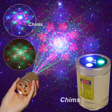 Chims Mini Laser Light Portable Cordless RGB 30 Gobo Family DJ Party Projector