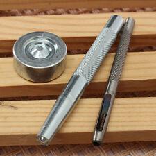 Outils de Poinçon Perforatrice Montage Bouton Pression 15 - 20mm Lot de 3 pcs