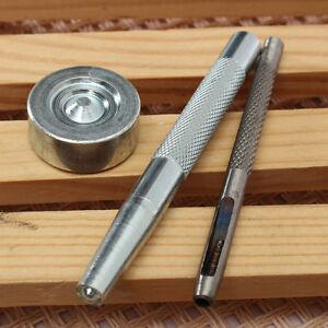 Outils de Poinçon Perforatrice Montage Bouton Pression 15 - 20 mm Lot de 3 pcs
