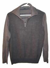 Morachini Gray 1/2 Zip Wool Blend Sweater Mens size 5 S Small