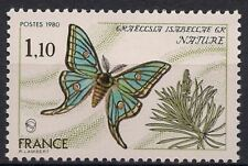 """France 1980 Butterfly """"Graellsia isabellae"""" Insect Conservation 1v MNH"""