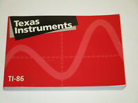 Texas Instruments TI-86 Graphing Calculator Guidebook Owners Manual  Good Cond