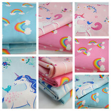 Happy little unicorns 100% cotton fabric by Robert Kaufman per FQT