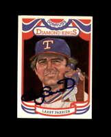 Larry Parrish Hand Signed 1984 Diamond Kings Texas Rangers Autograph