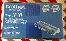 2 Brother Genuine TN330 Mono Laser Toner Cartridge NEW IN BOX