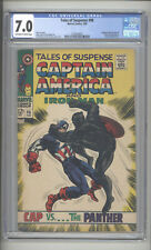 "TALES OF SUSPENSE #98  CGC 7.0   ""CAPTAIN AMERICA  VS BLACK PANTHER COVER"""