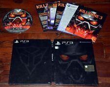 Killzone 3 Steelbook Ps3 Ottima 1a Stampa Italiana con Manuale Disco Zero Segni