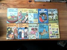 LADYBIRD BOOKS SERIES 633 SET of 10 : How to swim and dive,sailing and boating