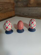 Jim Shore Decorative Eggs - Set of 3 with stands