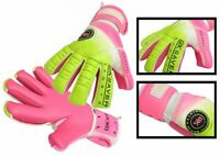 Football Goalkeeper Gloves Semi Negative Flat Mix Cut GK Saver Passion Ps08 Pink