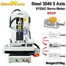 2200w Steel Cnc 5axis 3040 Metal Router Engraver Cuting Machine Xyzacservo Motor