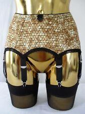 XS-XXL Golden Bee Hive Honeycomb Design 4-14 Strap Sexy Designer Suspender Belt