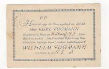 Wilhelm Fugman Leipzig Papiergrosshandlung Germany 1923 Advert Postcard 345b