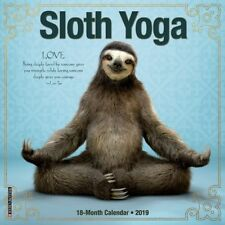Sloth Yoga 2019 Mini Wall Calendar, Wildlife by Willow Creek Press