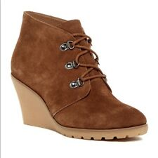 NEW Susina Rawlin Rust Suede Wedge Bootie, Women Size 11, $80