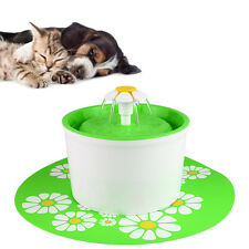 1.6L Automatic Cat Dog Bird Water Drinking Fountain Pet Bowl Dish Filter w/ Mat