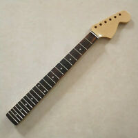 "Gloss Maple 22 Frets 24"" inch Electric Guitar Neck Rosewood Fretboard parts"
