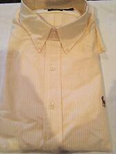 Polo Ralph Lauren Striped Oxford Long Sleeve Shirt Classic Fit XL Yellow Stripe
