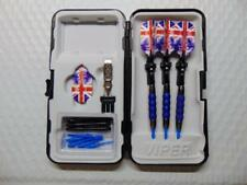 GLD Viper Sure Grip Blue Soft Tip 18 gm Darts w/ Union Jack Flights