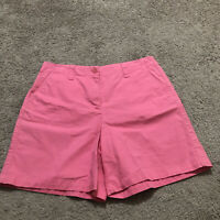 Talbots Stretch Women's Size 12 Pink Cotton Blend Bermuda Shorts