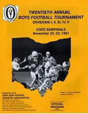 1991 OHIO HIGH SCHOOL FOOTBALL STATE CHAMPIONSHIP PROGRAM      STATE SEMIFINALS