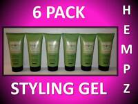 6 PACK!!! HEMPZ SUPRE ORIGINAL STYLING HAIR GEL FIRM HOLD 1.5 OZ TRAVEL SIZE LOT