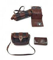 BRIGHTON womens VINTAGE Crossbody Brown Black TAN Handbag & Brighton Wallet
