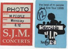 M PEOPLE TWO[2] BACK STAGE PASSES1998 ORIGINAL 19 YRS OLD DATED VIP & PHOTO GEMS