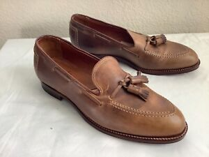 New brooks brothers Alden Tan Tassle Loafers Shoes 10 B/D