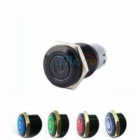 16mm 12V Auto Universale LED Potenza Pulsante Metallo Interruttore Impermeabile