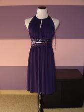 NWOT JS Boutique Short Sleeveless Embellished Dress SZ 10 Purple