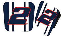 NASCAR #2 Brad Keselowski Rubber Trailer Hitch Cover-NASCAR Hitch Cover