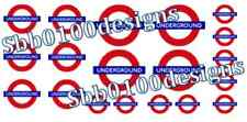 MRE trasferimenti ~ London Underground Waterslide trasferisce una 00 Gauge MINI FOGLIO