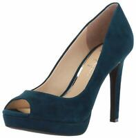 Jessica Simpson Womens DALYN Leather Peep Toe Classic Pumps, Azurite, Size 8.5 A