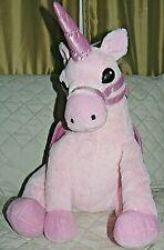 """Pink Unicorn Sitting Stuffed Plush 18"""""""