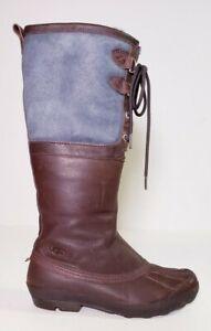 Ugg Australia Women's Belcloud Leather Shearling Waterproof Duck Boots! Size 8