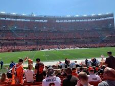 Two tickets Pittsburgh Steelers vs Cleveland Browns 10/31/21 LL Sec 132 10th Row