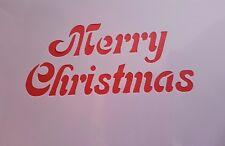 1167 Schablonen Merry Christmas Wandtattoo Leinwand Textilgestaltung  Stencil