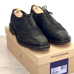 * NIB * $425 Allen Edmonds MCTAVISH 9 D Waxed Suede * new Shoe Trees AE Bags