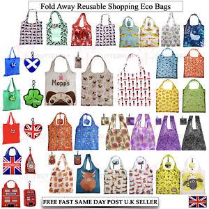 Reusable Foldable Ladies Shopping Bag Eco Animal Tote Handbag Fold Away Bag