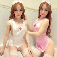 Sexy Women Nurse Uniforms Lingerie Fancy Dress Set Outfit Party Costume Cosplay