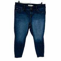 Torrid Womans Plus Size 22 Skinny Jeans Blue Stretch Jegging Denim