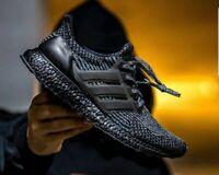 ⭐ Adidas Ultra Boost 3.0 11.5 UK Triple Black Silver Men Trainers Running BA8923